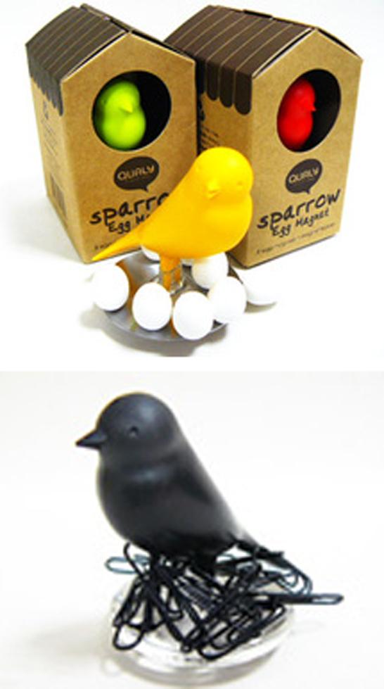 小鳥たちがお手伝い「マグネット/クリップ スタンド」