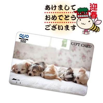 びもーるお年玉企画1「Quoカード500円分」20名様にプレゼント