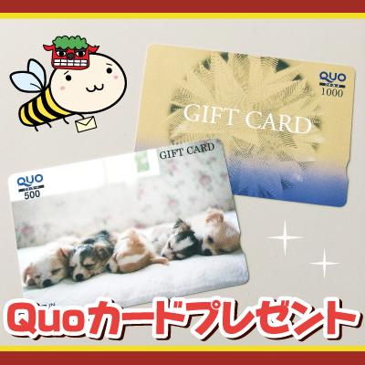 びもーるお年玉企画「Quoカード500円分または1,000円分」8名様にプレゼント