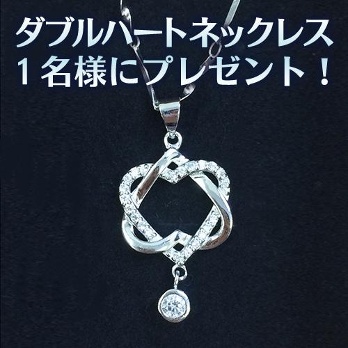 お正月プレゼント「ダブルハートネックレス」1名様にプレゼント 札幌