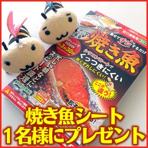 「レンジで出来る焼き魚シート」1名様にプレゼント! 札幌