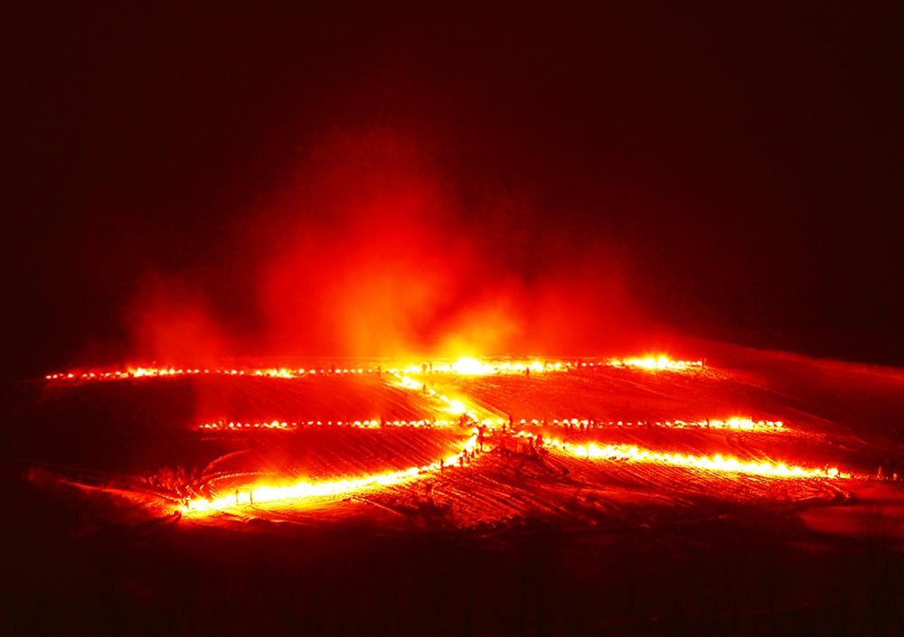 北海道の冬を飾る 北の天文字焼き2018 名寄市 (2/10) 札幌