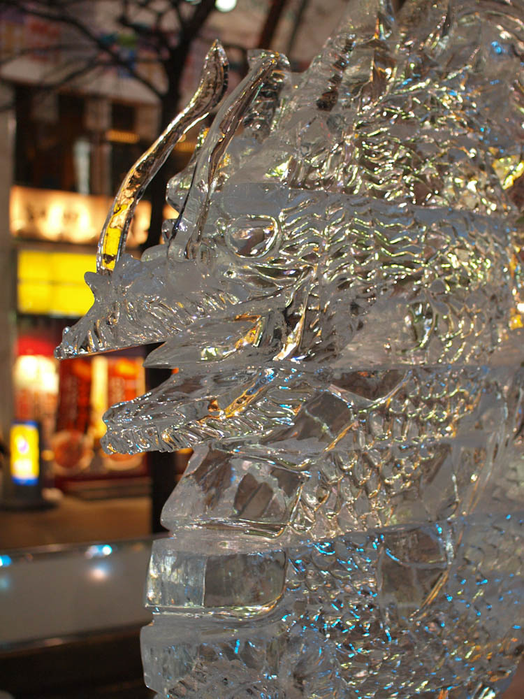 氷を見て氷を楽しむ さっぽろ雪まつり すすきの会場 (2/5〜11) 札幌