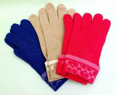 クリスマス企画☆COACHの手袋(ピンク)